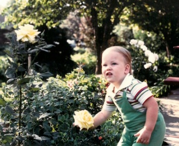 Jeremy's early gardening years